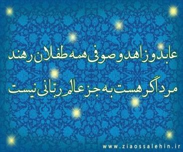 عابد و زاهد و صوفی همه طفلان رهند